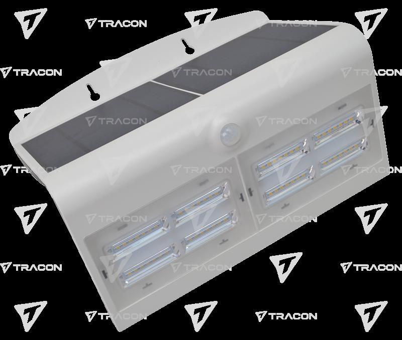 Solar LED-Wandleuchte 6,8W weiß 800 Lumen mit Bewegungsmeld